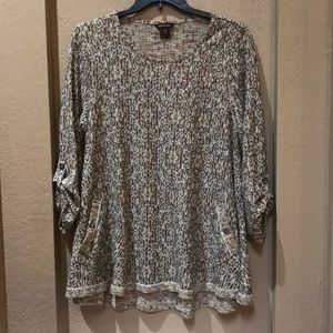 Patterned Top with Pockets